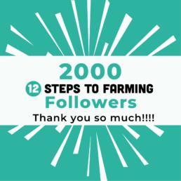 12 steps to farming instagram 2000 followers