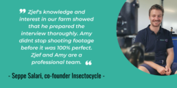 Seppe Salari Insectocycle testimonial 12 steps to farming